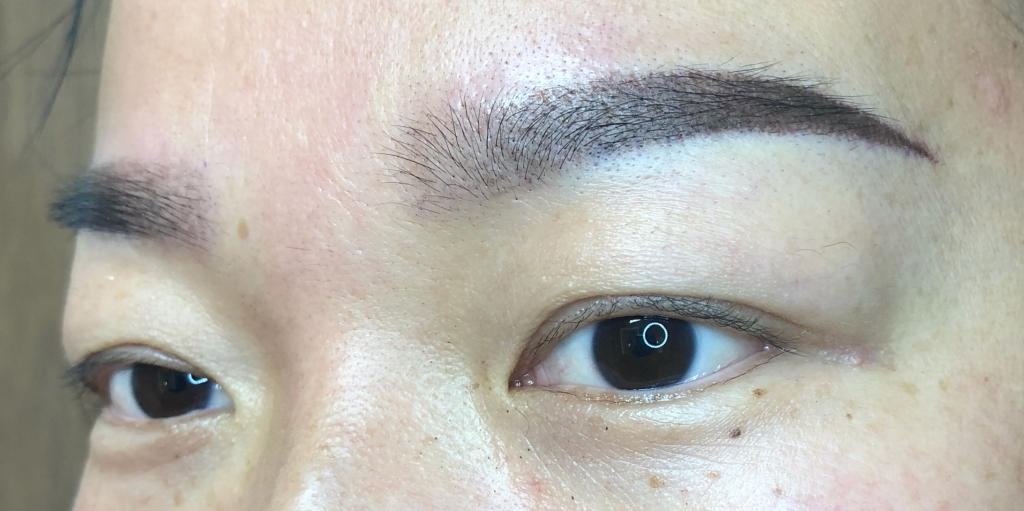 Eyebrow Microblading - After Treatment. iBrow Studio, Hove